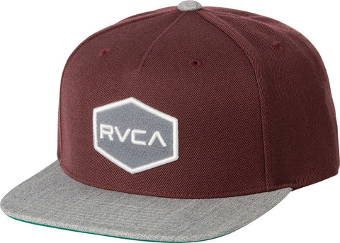"RVCA - Commonwealth Snapback Hat - Tawny  | Casquette ""Commonwealth Snapback"" -  Bourgogne 