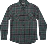 RVCA Men's Lowland  L/S Flannel Shirt - Sequoia Green | Almasty Outdoor Co.