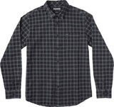 RVCA Men's That'll Do Seer  L/S Flannel Shirt - Black | Almasty Outdoor Co.