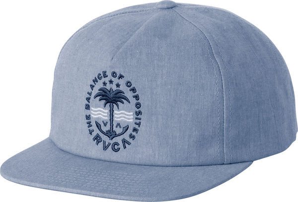 RVCA Palmz Snap Back Hat - Light Blue  | Almasty Outdoor Co.