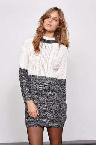 Mink Pink Two Faced Cable Knit Dress - Multi | Almasty Outdoor Co.