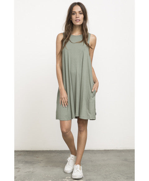 RVCA Sucker Punch 2 Dress - Smoke Green | Almasty Outdoor Co.