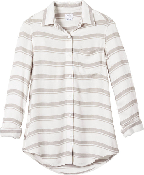 RVCA Women's Keeper Shirt - Vintage White | Almasty Outdoor Co.