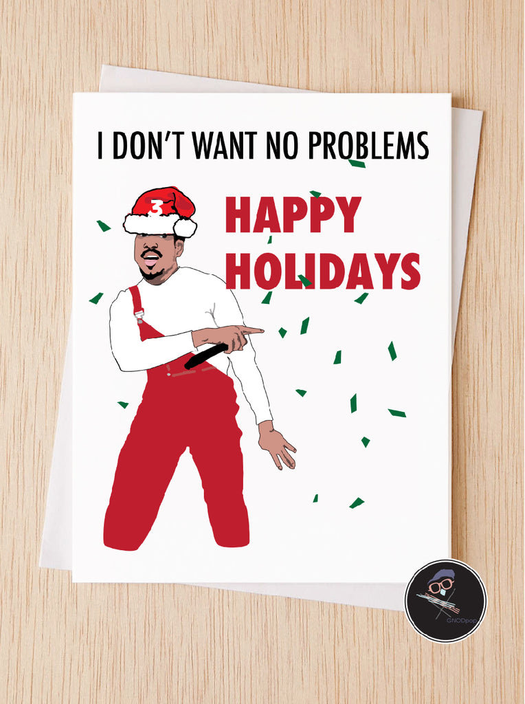 chance the rapper happy holidays card - Happy Holidays Card