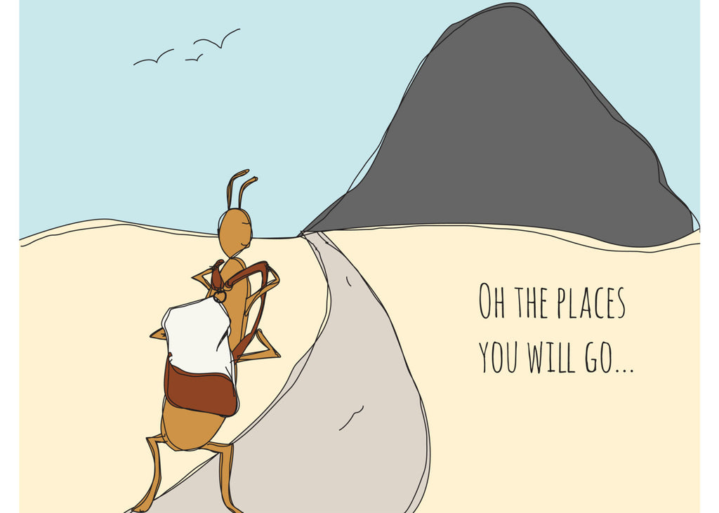 Oh the places you will go cute encouragement card hand oh the places you will go cute encouragement card hand illustration greeting card m4hsunfo