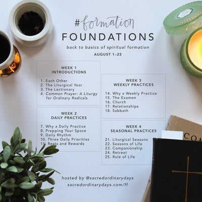 Day 19 #formationFOUNDATIONS | Rule of Life