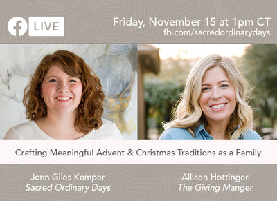 Interview with Allison Hottinger, Creator of the Giving Manger about Advent and Kids