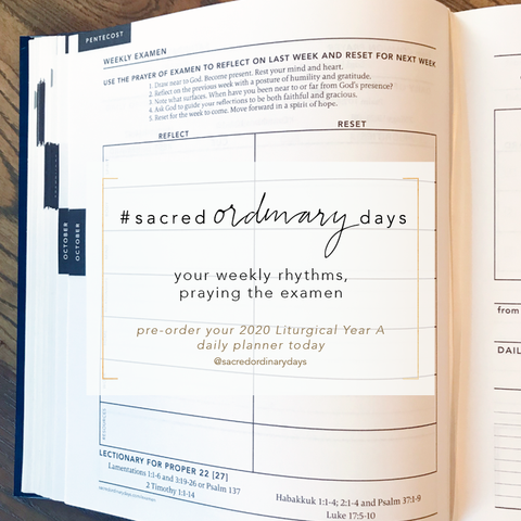cultivating and keeping your daily practices | pre-order your 2020 Liturgical Year A daily planner today