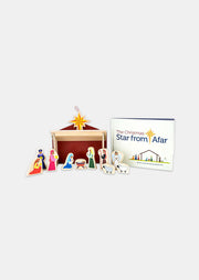 The Christmas Star From Afar: A Wooden Nativity Set and Book for Advent & Christmas with Kids
