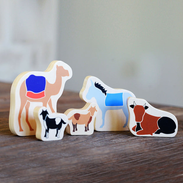 The Christmas Star From Afar: Stable Animals for Nativity Set with Kids