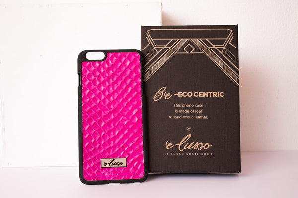 iPhone 6P-6SP Grass Snake Leather - Colore Fucsia BC0015