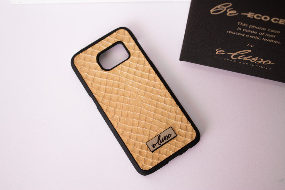 Samsung Galaxy S7 Grass Snake Leather - Colore Beige BC0020