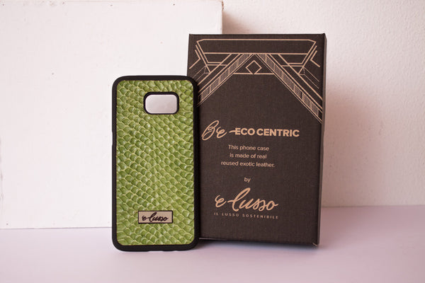 Samsung Galaxy S7Edge Grass Snake Leather - Colore Verde Acido BC0017