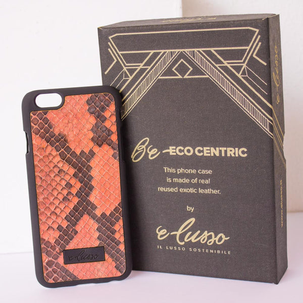 iPhone 6-6S Snake Leather - Colore Arancione
