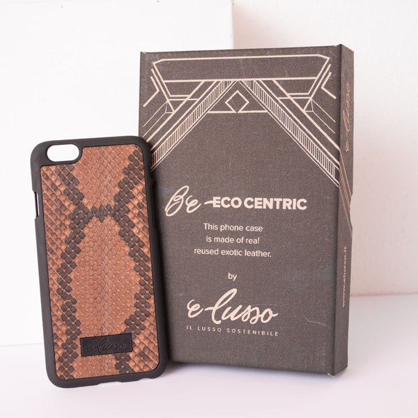 iPhone 6-6S Snake Leather - Colore Marrone-Nero