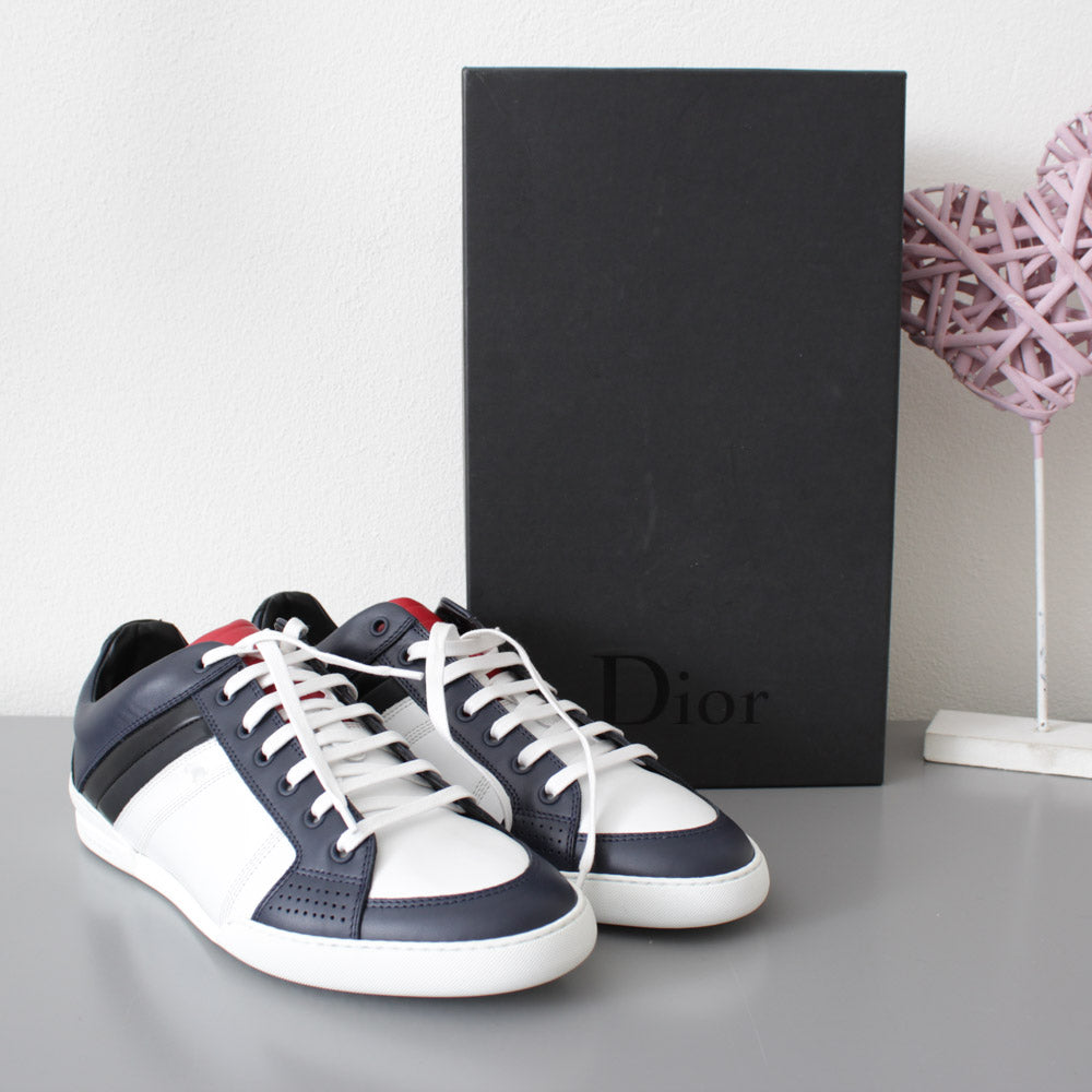 huge selection of 747bb c2739 CHRISTIAN DIOR SNEAKERS BIANCHE BLU ROSSO E NERO N.42