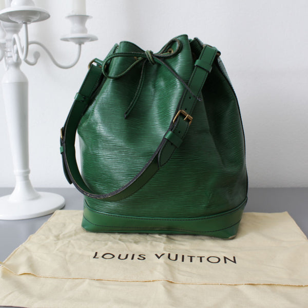 LOUIS VUITTON NOE EPI VINTAGE ANNI 80 COLOR VERDE BANDIERA