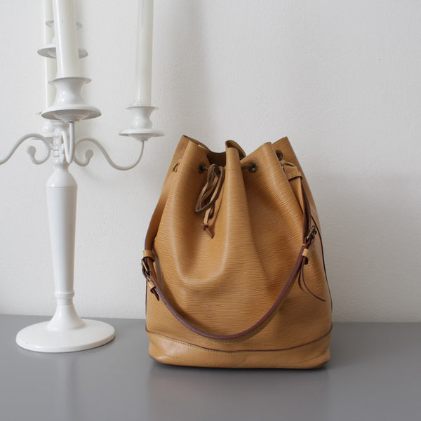 LOUIS VUITTON NOE EPI VINTAGE ANNI 80 COLOR BEIGE