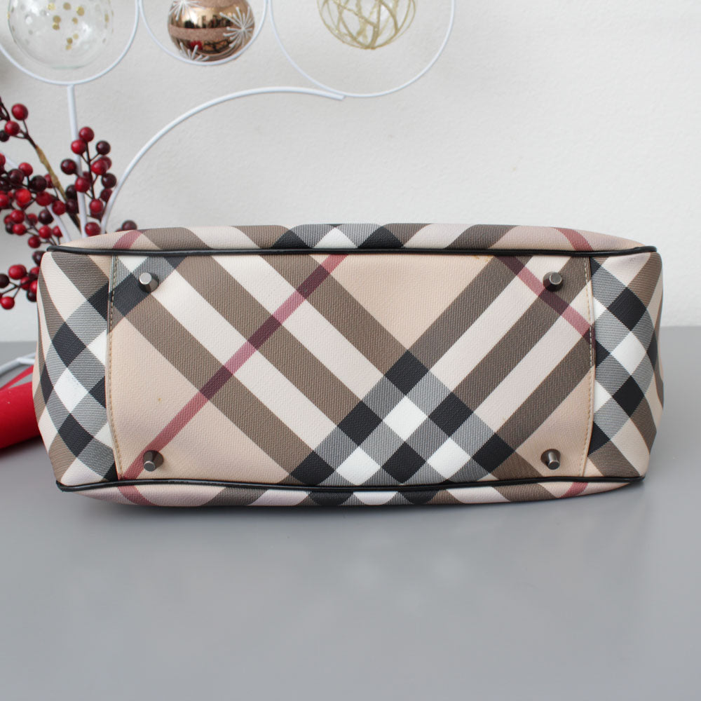 BURBERRY SHOPPER CHECK E NERO