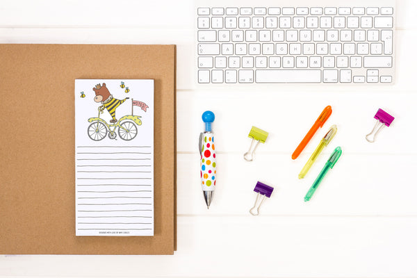 Bike Bear Notepad