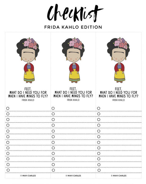 Checklist - Frida Kahlo Edition