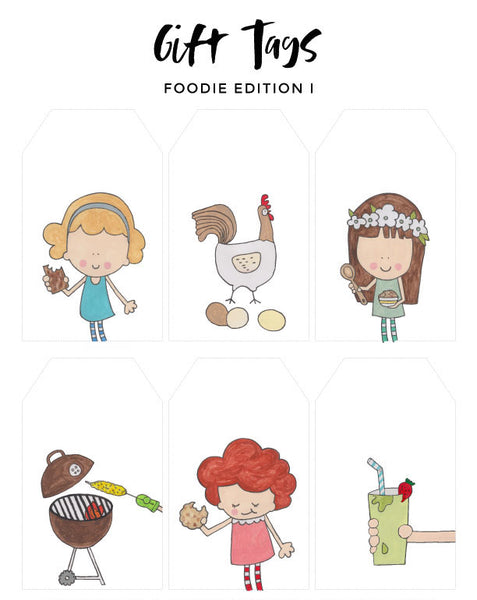Gift Tags - Foodie Edition I