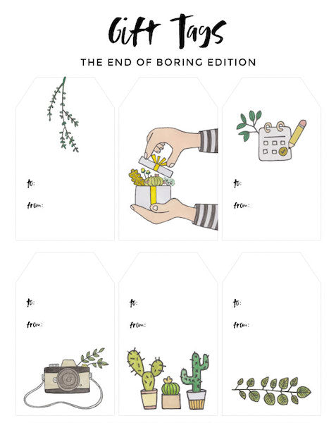 Gift Tags - The End of Boring Edition