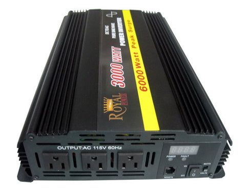 3000 Watt Pure Sine Power Inverter 12 Volt DC to 120V AC