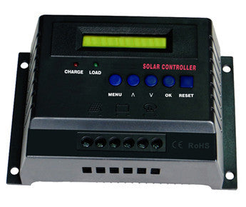 50-Amp 12-Volt/24-Volt Digital Solar Power Charge Controller