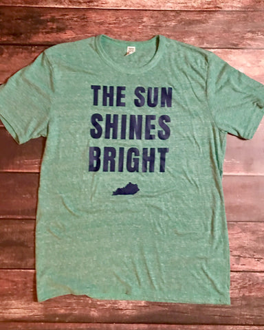 Sun Shines Bright Triblend Green Tee