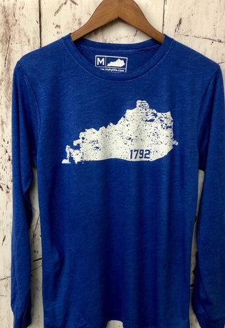 KY 1792 Blue Long Sleeve Triblend Tee