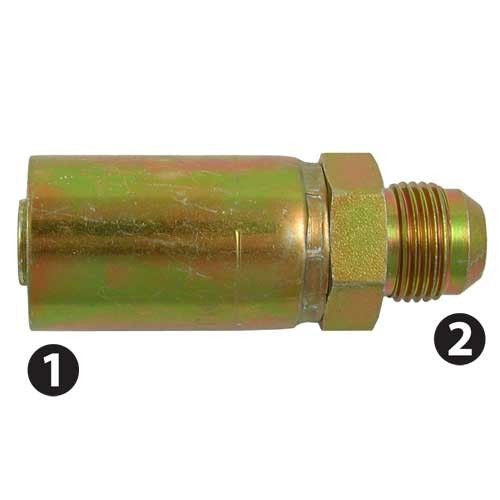 JIC 37° Male Rigid Cotton Cover Hose Fittings