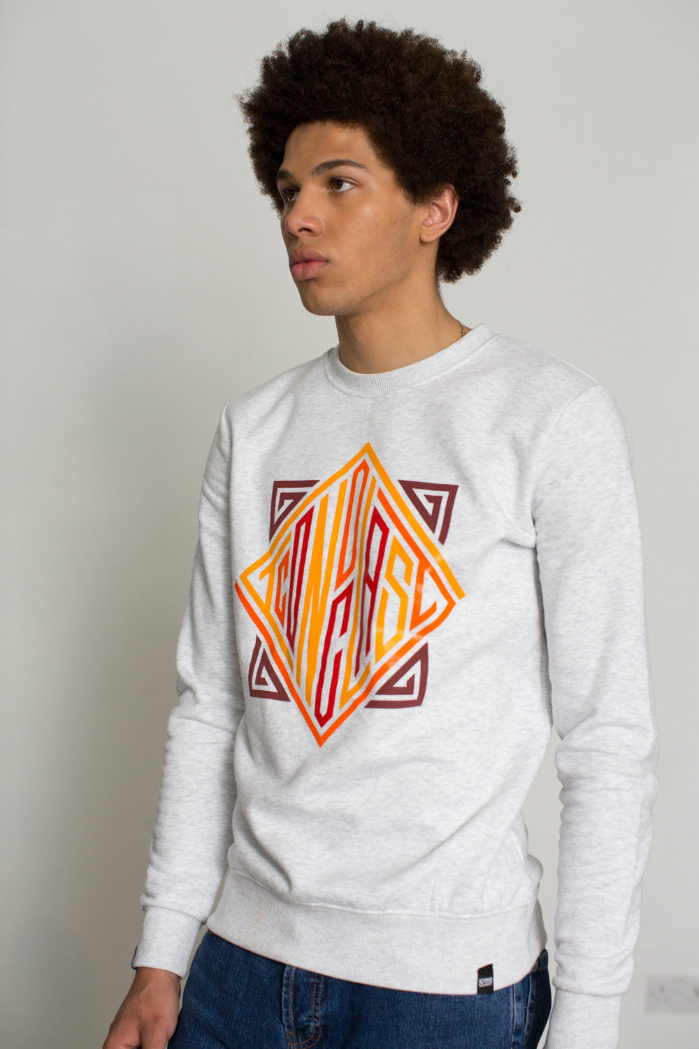 """Ico Diamond"" heather grey sweatshirt"