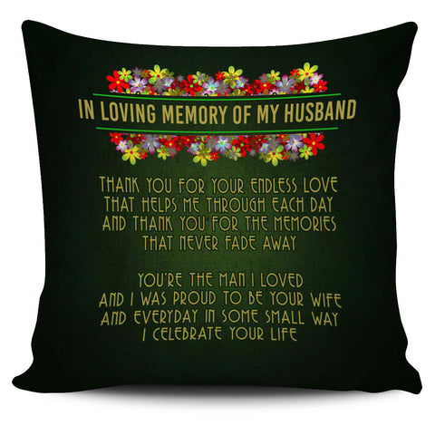 In Loving Memory Of My Husband Pillow Cover My Husband In Heaven