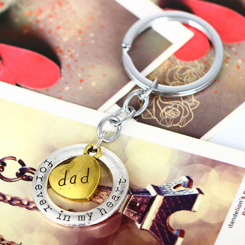 FOREVER IN MY HEART-DAD KEYCHAIN