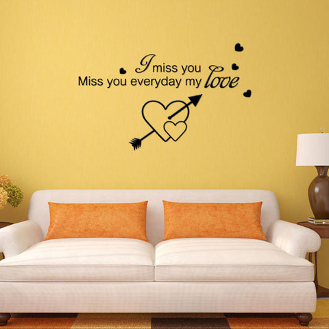 Miss you Love Quote Wall Stickers – My Husband In Heaven