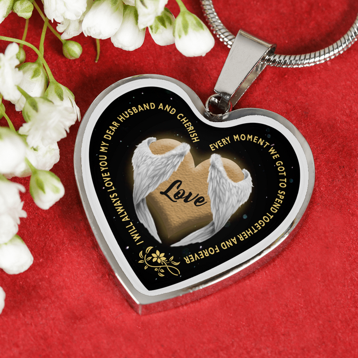 I Will Always Love You My Dear Husband Necklace And Bangle With