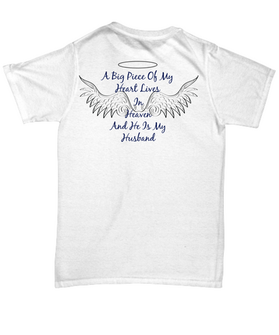 A BIG PIECE IN MY HEART LIVES IN HEAVEN BACK PRINTED TEE