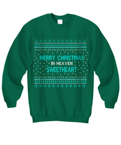 merry christmas in heaven sweetheart ugly sweater - Merry Christmas In Heaven
