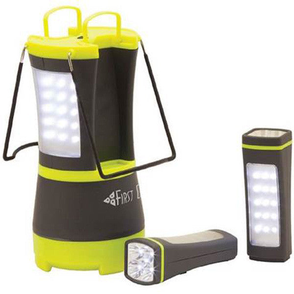 Gamma led lantern with detachable flashlights