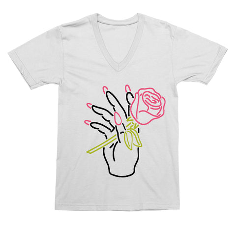 Neon Nail Salon V-Neck