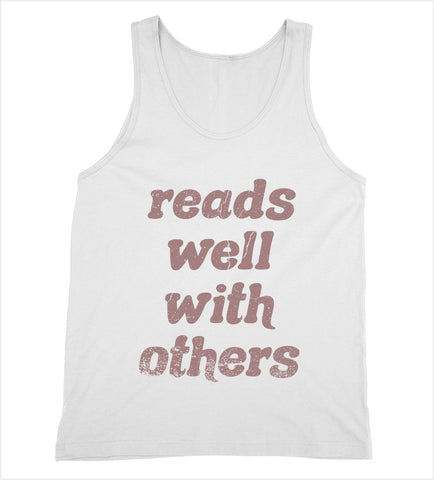 Reads Well with Others Tank