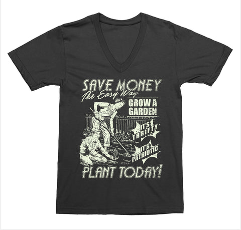 Save Money Plant Today V-Neck