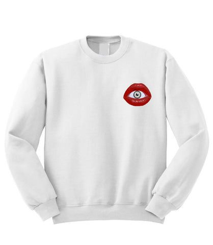 Evil Eye Lips Sweatshirt