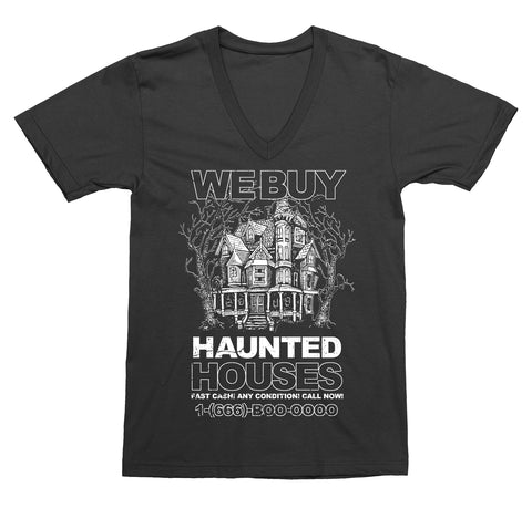 Haunted Houses V-Neck