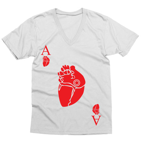 Ace of Hearts V-Neck