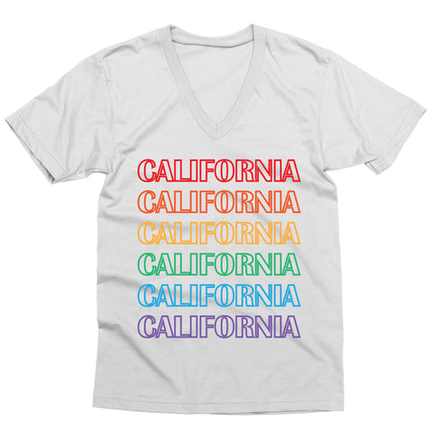 Cali Rainbow V-Neck