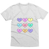 Candy Hearts V-Neck