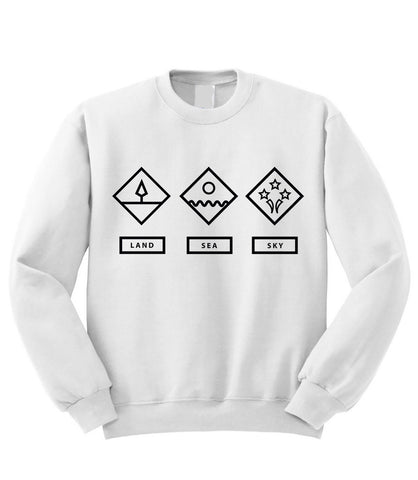 Land Sea Sky Sweatshirt