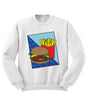 Burger and Fries Retro Sweatshirt